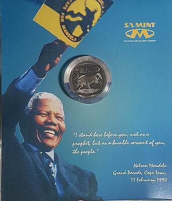 2000 South Africa 5 Rand Nelson Mandela Prooflike Coin 40,000 Minted SAM Case