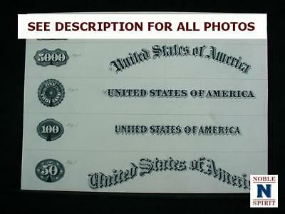 NobleSpirit NO RESERVE {3970} Rare Original US Bond and Currency Proof Sheet