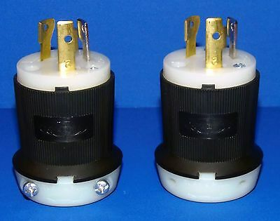 HUBBELL TURN-PULL MALE PLUG - 30A - 125V ~ Two Included