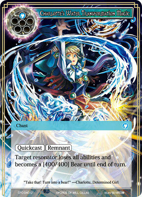 Force of Will TCG  x 4 Charlotte's Water Transformation Magic [CFC-040 U] Englis