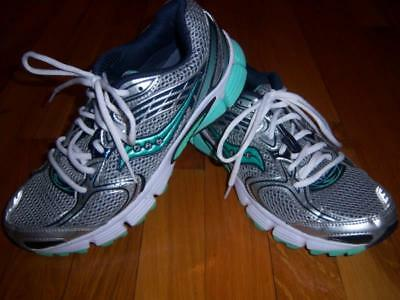 Womens Saucony Liberate Gray Silver & Teal Running Shoes Sneakers Size 9