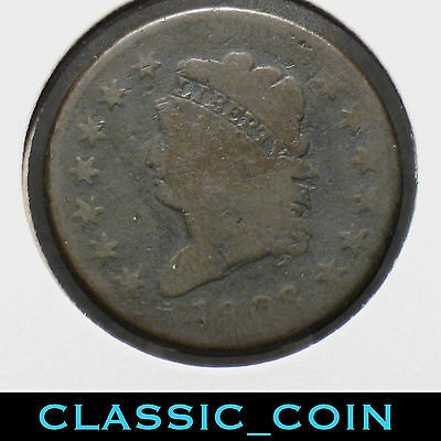 1808 Classic Head Large Cent Scarce Date 209 Years Old Free S/h