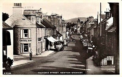 RP Early NEWTON STEWART Victoria Street - Central Bar, shops, people
