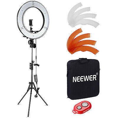 "Neewer Dimmable 18""/48cm LED Ring Light and Light Stand 55W 5500K Light Kit"