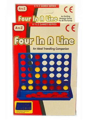 Four in a Line Row Connect 4 Mini Travel Car Holiday Family Game Toy