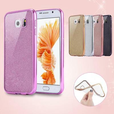 Bling Glitter ShockProof Silicone TPU Gel Case Cover For Samsung Galaxy Phones