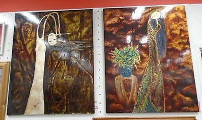 Contemporary Pair Of Abstract / Impressionism Art Signed Lithograph Prints - C63
