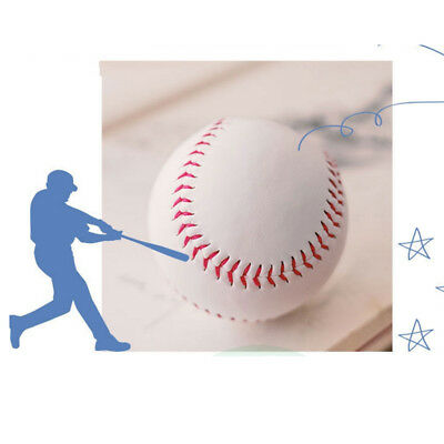 "9"" Soft Leather Sport Game Practice Trainning Base Ball BaseBall Softball Es B"