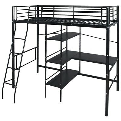 s kinderbett etagenbett hochbett doppelstockbett bettrahmen 200x90 cm metall we eur 110 99. Black Bedroom Furniture Sets. Home Design Ideas