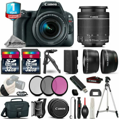 Canon EOS Rebel SL2 DSLR Camera + 18-55mm IS STM - 3 Lens Kit + 32GB + Tripod