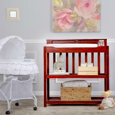 New Dream On Me Zoey 3-in-1 Convertible Changing Table and Twin Bed - Cherry