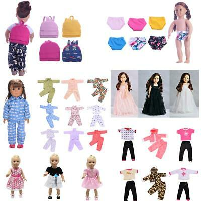 Clothes for 18'' American Girl Our Generation My Life Dolls Dress Skirt Bag Accs