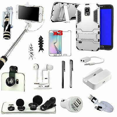 Case Cover Carema Lens Selfie Stick Monopod Accessory Kit For Samsung Galaxy S5