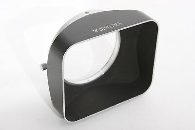 Yashica Rectangular 54mm Clamp On Puch On Metal Lens Hood
