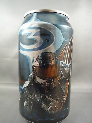 Mountain Dew HALO 3 GAME FUEL CITRUS CHERRY MTN empty aluminum soda pop can xbox
