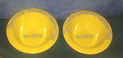 "Cheerios Yellow Bowls General Mills ""You Made Cheerios Number One"""