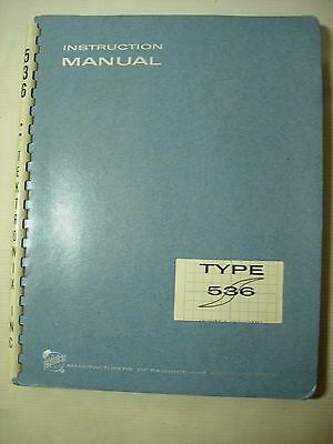 TEKTRONIX 536 OSCILLOSCOPE INSTRUCTION MANUAL, SCHEMATICS, PARTS, etc.