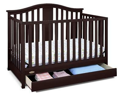New Graco Solano 4-in-1 Convertible Crib with Drawer - Espresso Model:829044D5