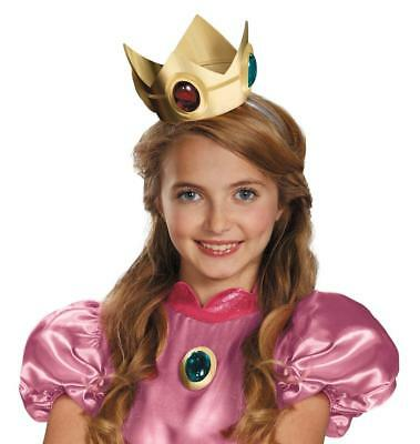 New Super Mario Brothers Princess Peach Crown and Amulet Halloween Accessory