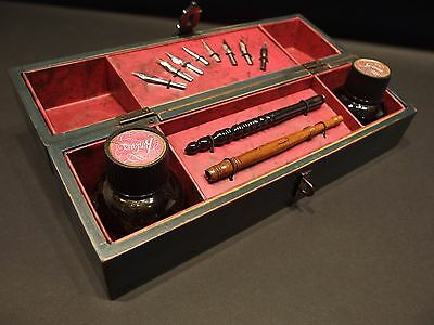 Antique vintage style calligraphy writing quill feather Calligraphy writing set