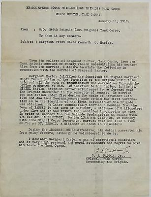 General Geoge S. Patton U.S WW II Commander Signed Letter PSA/DNA Authenticated