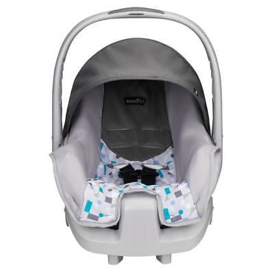 New Evenflo Nurture Infant Car Seat - Teal Confetti Model:2E96CDD7