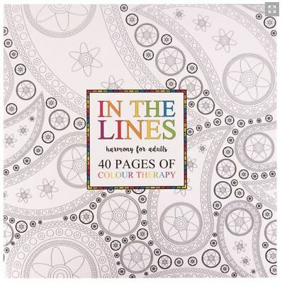 A4 Adult Colouring Book 40 Pages Creative Relaxation Grown Up Colour Craft Art
