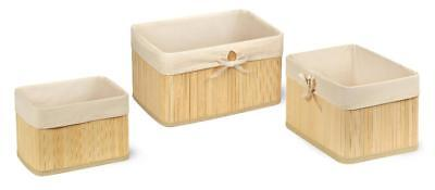 New Badger Basket Claremont Bamboo 3 Basket Set - Natural Model:8A932D6D