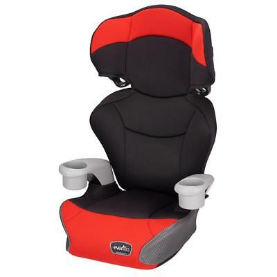 New Evenflo Big Kid High Back Booster Car Seat - Cardinal Red Model:A4F5E16A