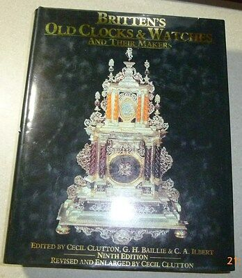 Brittens Old Clocks & Watches and Their Makers reference book 1990 9th edn