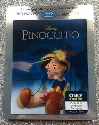 Pinocchio (Blu-ray+DVD+Digital, 2017; Signature Collection, Only @ Best Buy) NEW