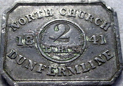 1841 Dunfermline Fife Scotland Communion Token