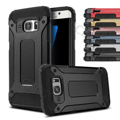 Rugged High Impact Hybrid Shockproof Armor Case Cover For Samsung S6 S7 S8 Plus