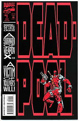DEADPOOL THE CIRCLE CHASE #1 VF/NM, Mini-Series, Stiff Cover, Marvel Comics 1993