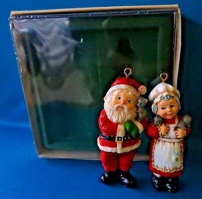 Hallmark Ornament  1981 Mr. and Mrs. Claus Boxed Set