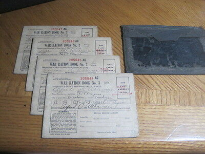 (A15) Lot of 4 WWII War Stamps Ration Book No. 3 Dearborn, MI issue 75% Full