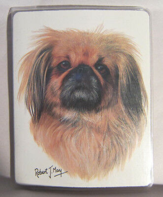 Retired PEKINGESE Softcover Address Book art by Robert May