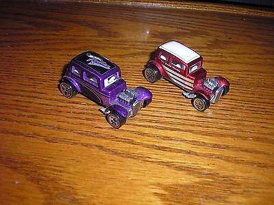 Vintage Lot of 2 Different Hot Wheels '32 1932 Ford Sedan Vicky Free Shipping