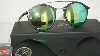 84d4b563f81 RAY BAN New Sunglasses Authentic RAY BAN Black Green Mirror RB4266 601S3R 49  140