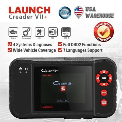 Updatable LAUNCH X431 Creader VII+ OBD2 Code Reader Engine Transmission ABS SRS