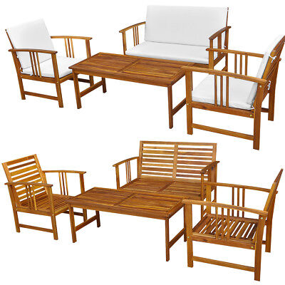 Acacia Wood Lounge Sofa Bench Set Timber Outdoor Furniture w/without Cushions