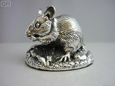 Stunning Hallmarked Sterling Silver Mouse Statue Brand New