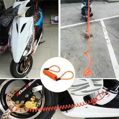 Elastic Motorcycle Bike Scooter Disc Lock Security Spring Reminder Cable Tight