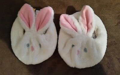 Build a Bear Teddy Bunny Rabbit SLIPPERS