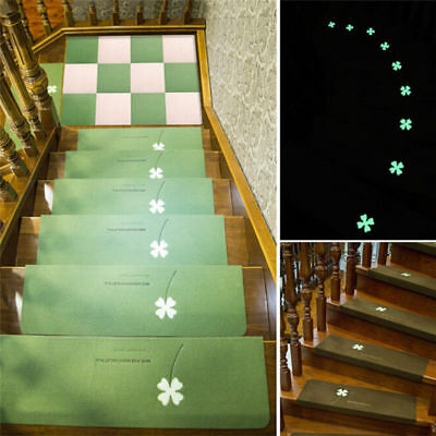 5Pcs Night Luminous Glowing Staircase Stepping Mat Stair Tread Non-slip Pad