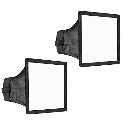 Neewer 2pack 15x13cm Softbox Diffuseur Flash pour Canon 580EX II 600EX-RT