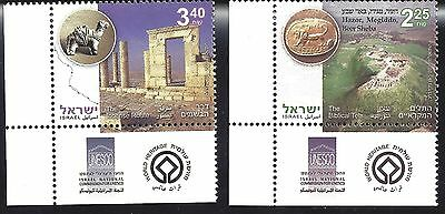 2008 ISRAEL set of 2 World Heritage Sites MNH The Biblical Tells, Incense Route