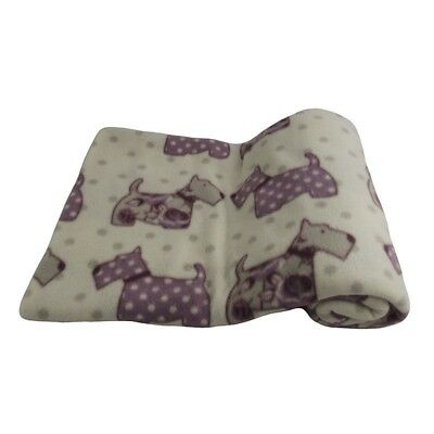 Shabby Chic Throw With Scottie Dog Pattern 163 2 50