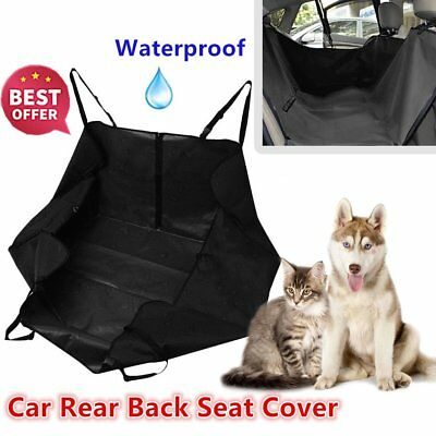Waterproof Rear Back Seat Cover With Sides For Pet Dog Protective Hammock Mat UK