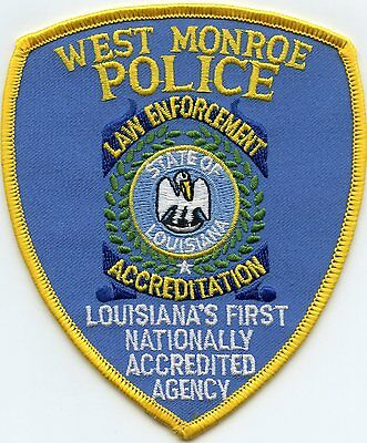 WEST MONROE LOUISIANA LA First Nationally Accredited Agency POLICE PATCH